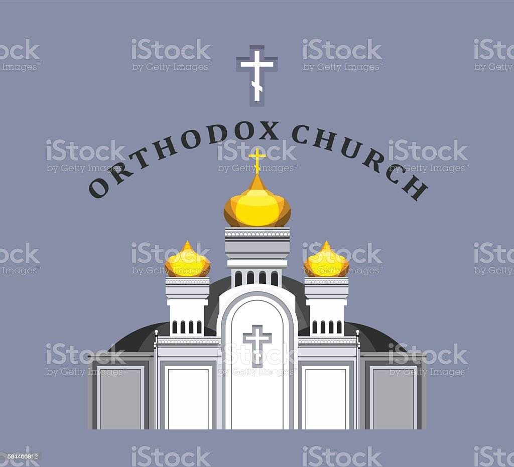 vector Orthodox church vector art illustration