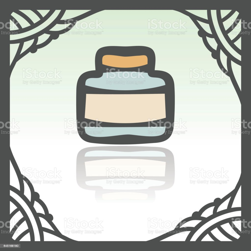 Vector outline empty glass pot icon. Modern infographic logo and pictogram. vector art illustration