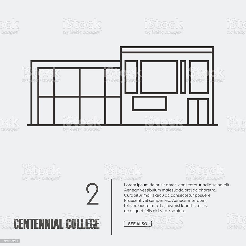 vector outline illustration of building facade stock vector art vector outline illustration of building facade royalty free stock vector art