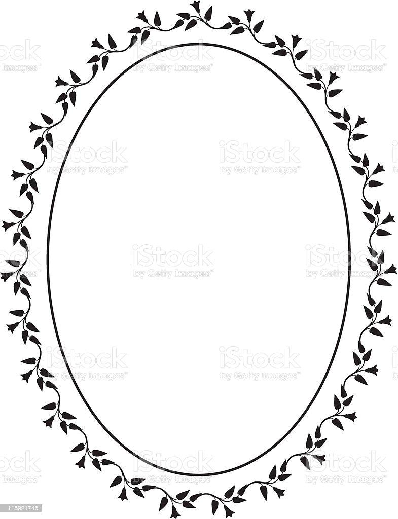 Vector oval decorative frame royalty-free stock vector art