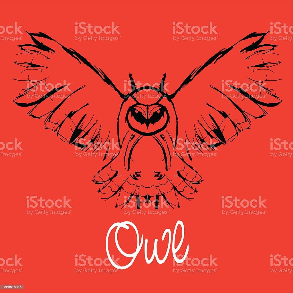 vector owl vector art illustration