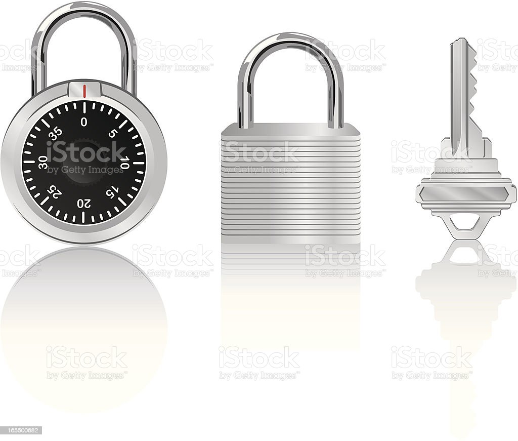 Vector Pad Locks royalty-free stock vector art