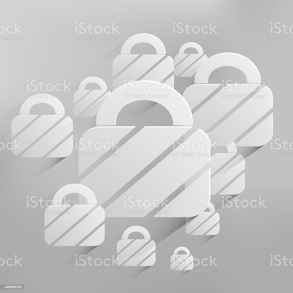 Vector Padlock Web Icon Background stock vector art 490069233 | iStock