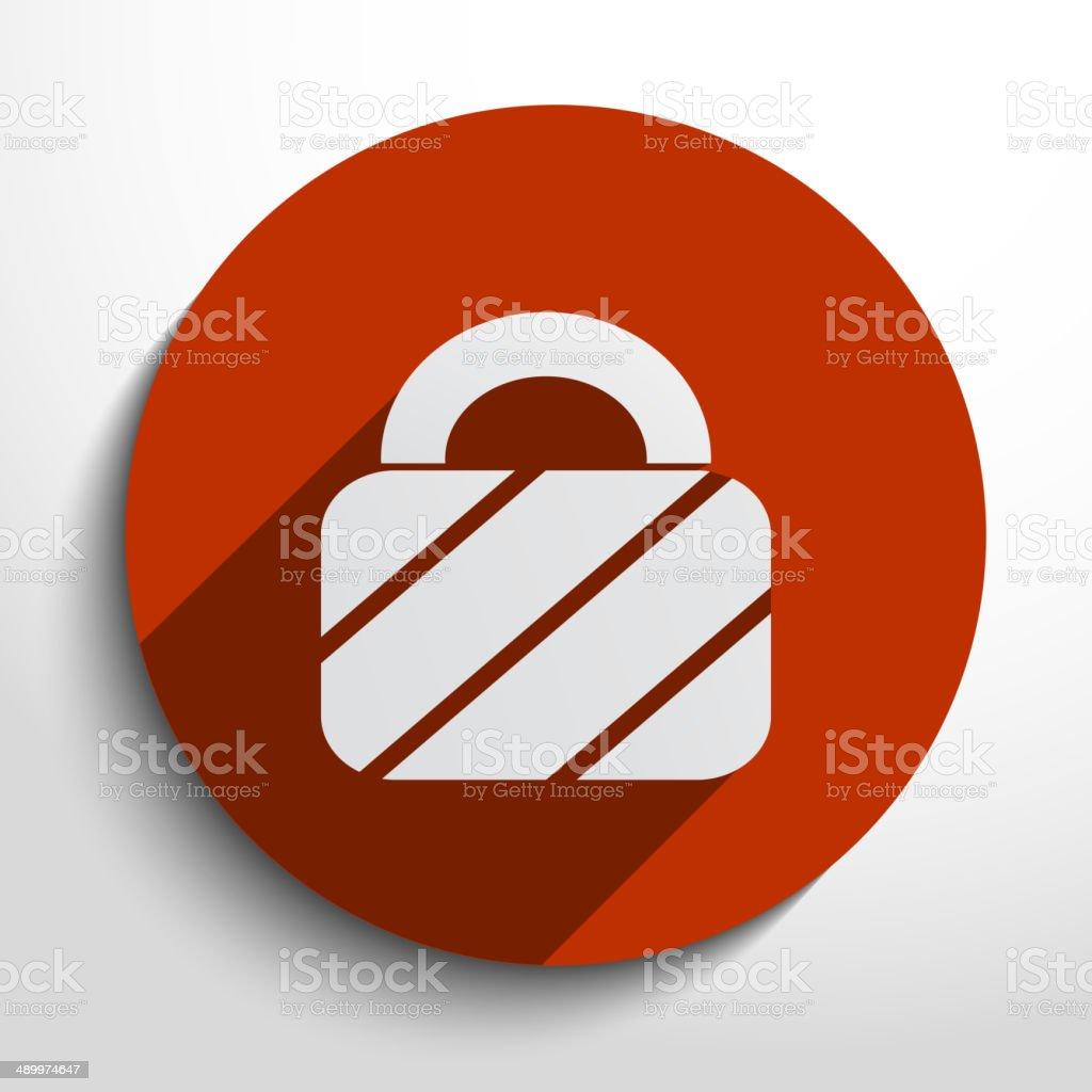 Vector padlock web icon royalty-free stock vector art