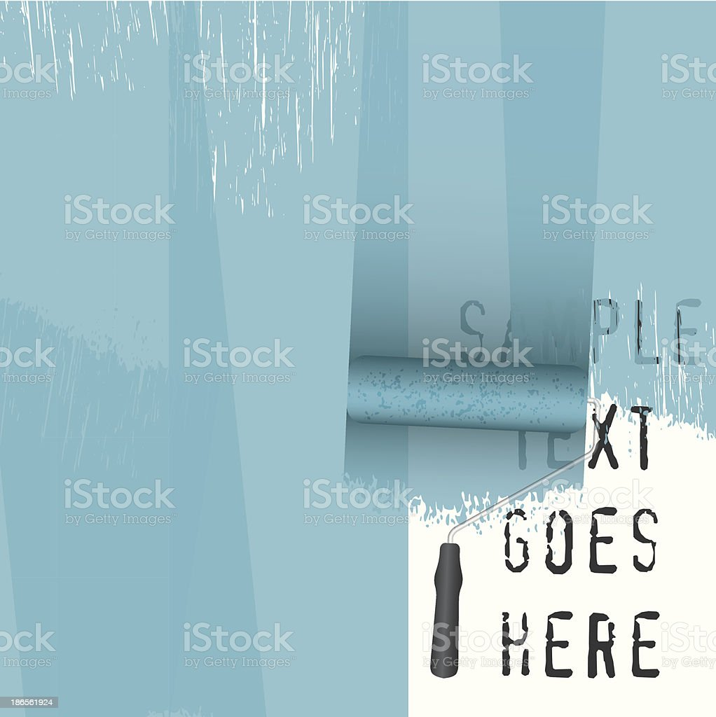 vector paint roller background vector art illustration