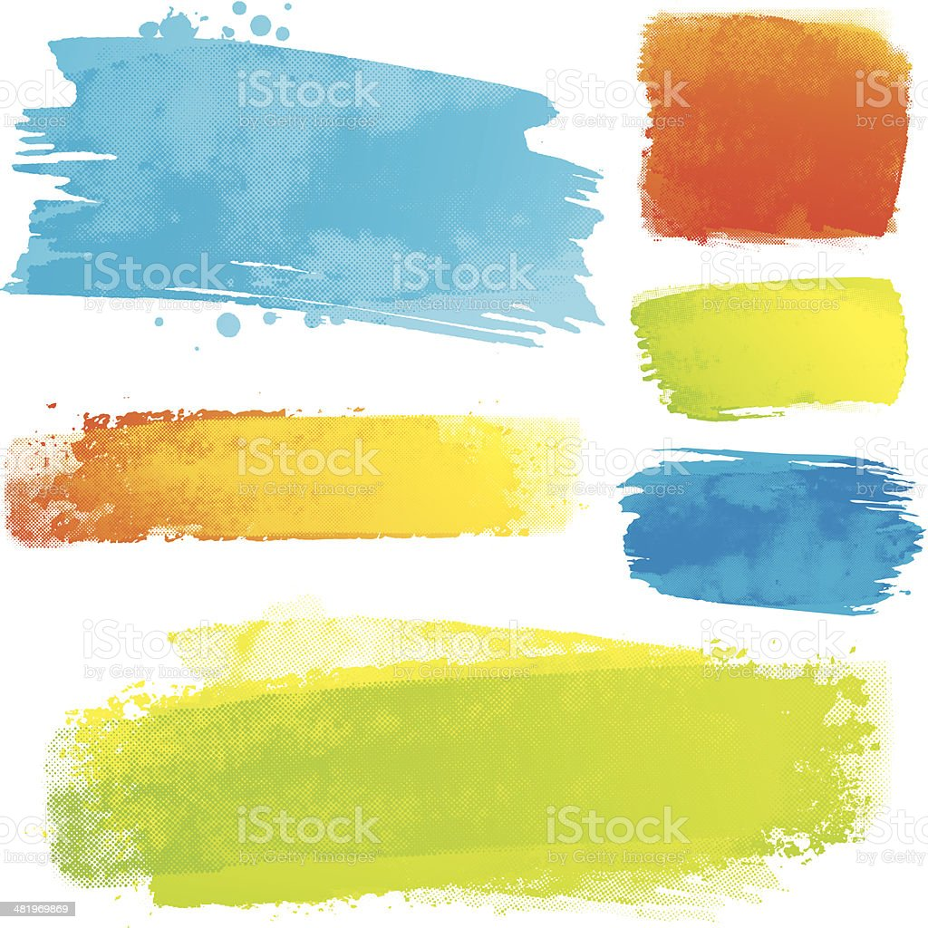 Vector paint strokes vector art illustration
