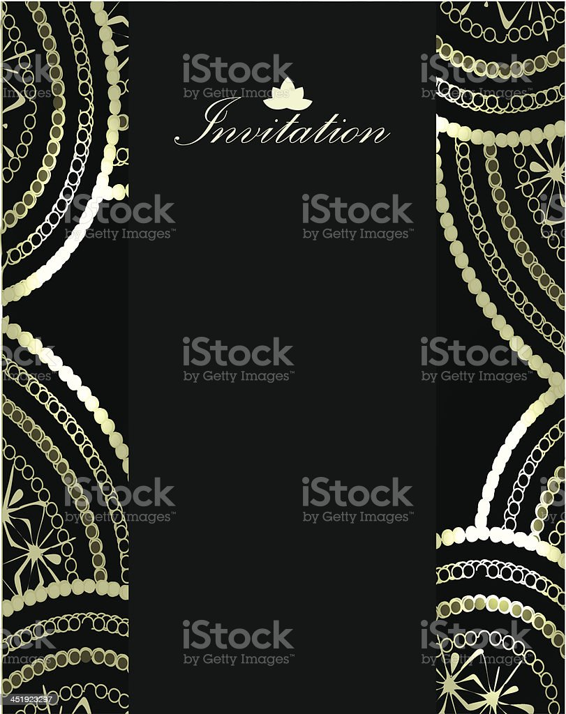 Vector paisley invitation card royalty-free stock vector art