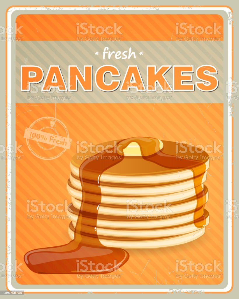 Vector Pancakes Sign vector art illustration