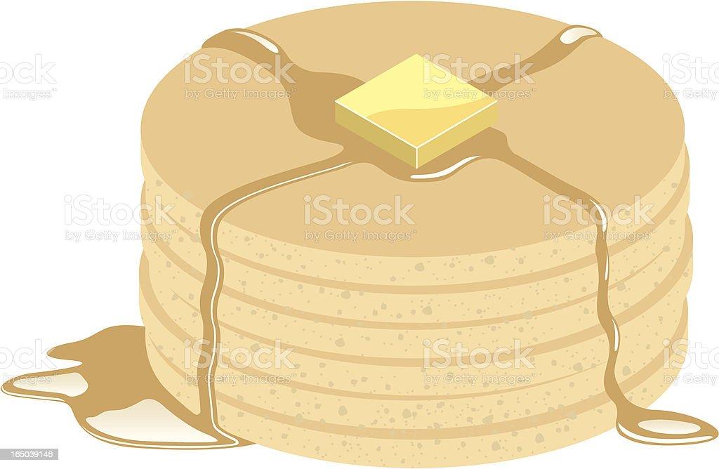 Vector Pancakes royalty-free stock vector art