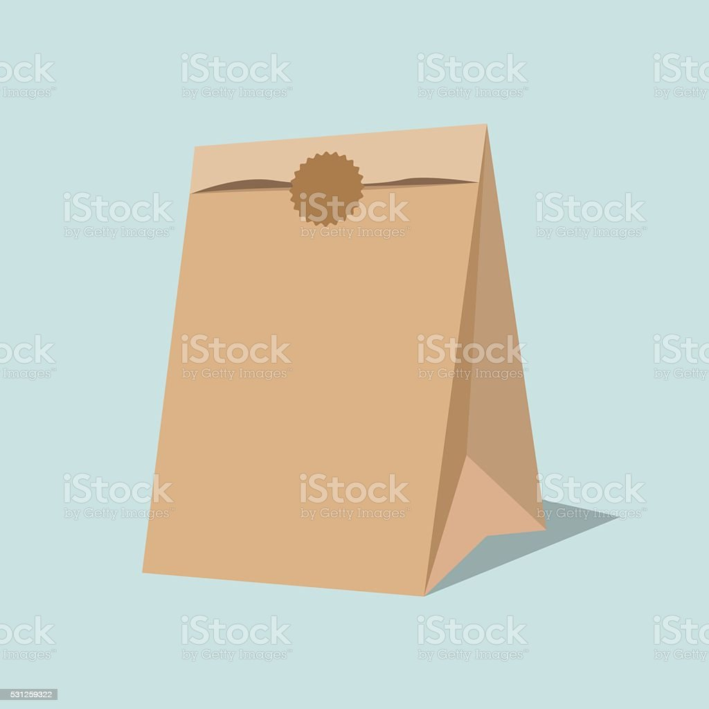 Vector paper bag illustration. vector art illustration