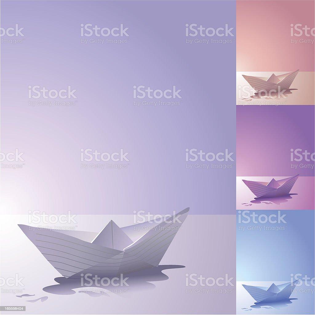 Vector paper boat royalty-free stock vector art