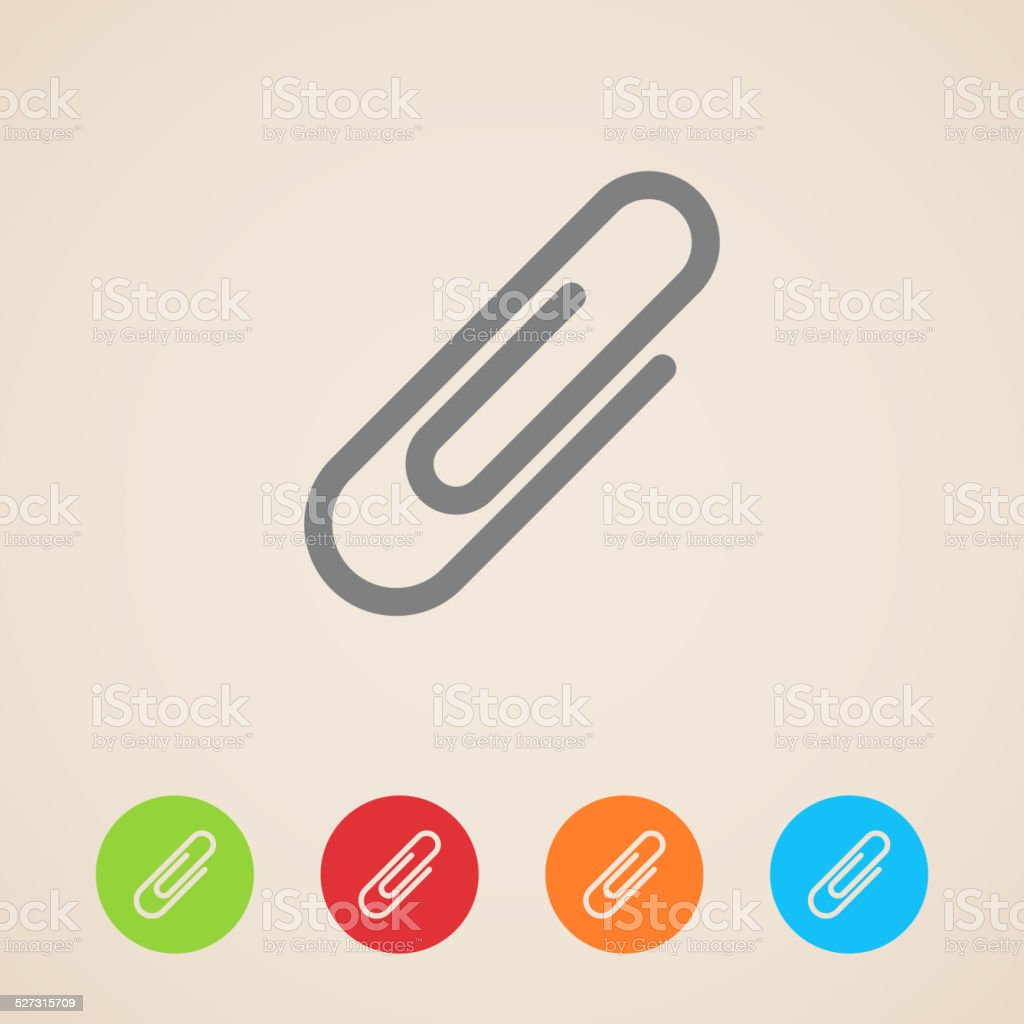 vector paper clip icons vector art illustration