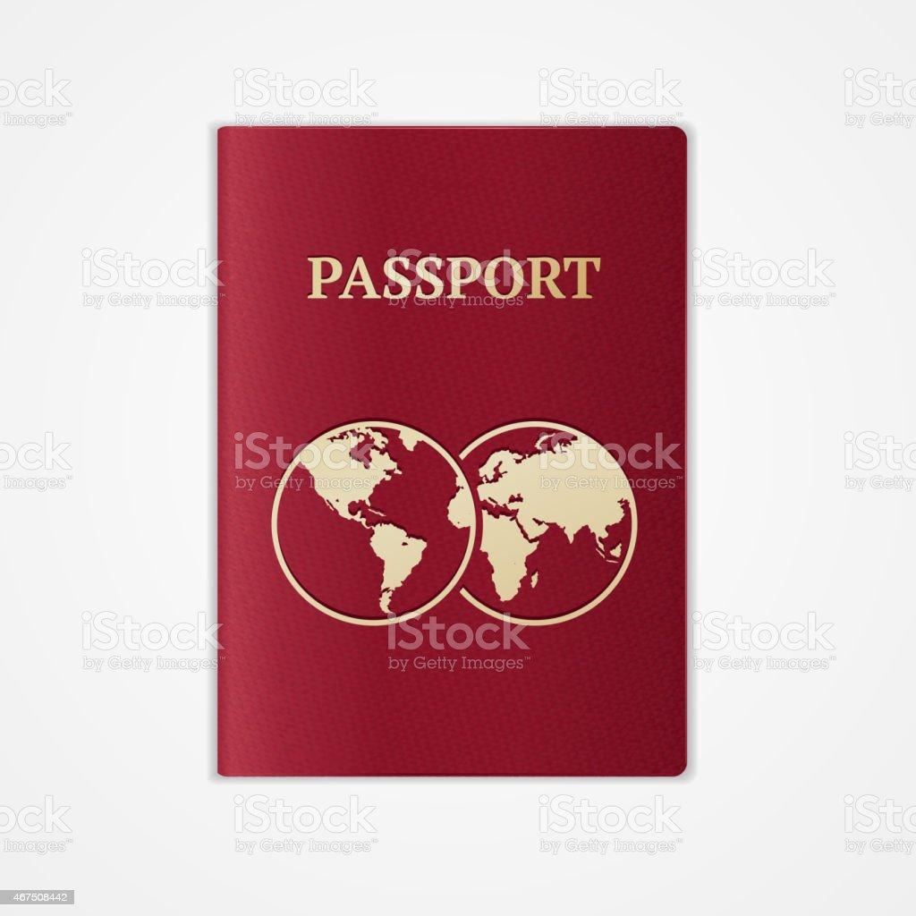 Vector passport. Flat Design vector art illustration