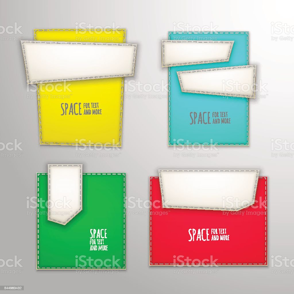 Vector Patch Banners Stock Vector Art 544983432 Istock