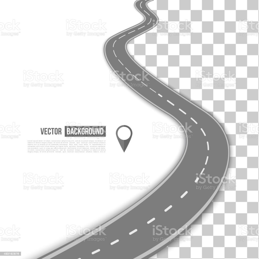 Vector path on the road. vector art illustration
