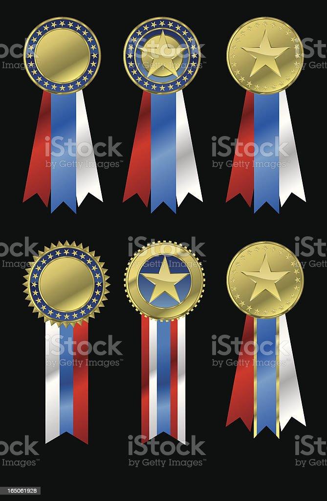 Vector Patriotic Medals royalty-free stock vector art