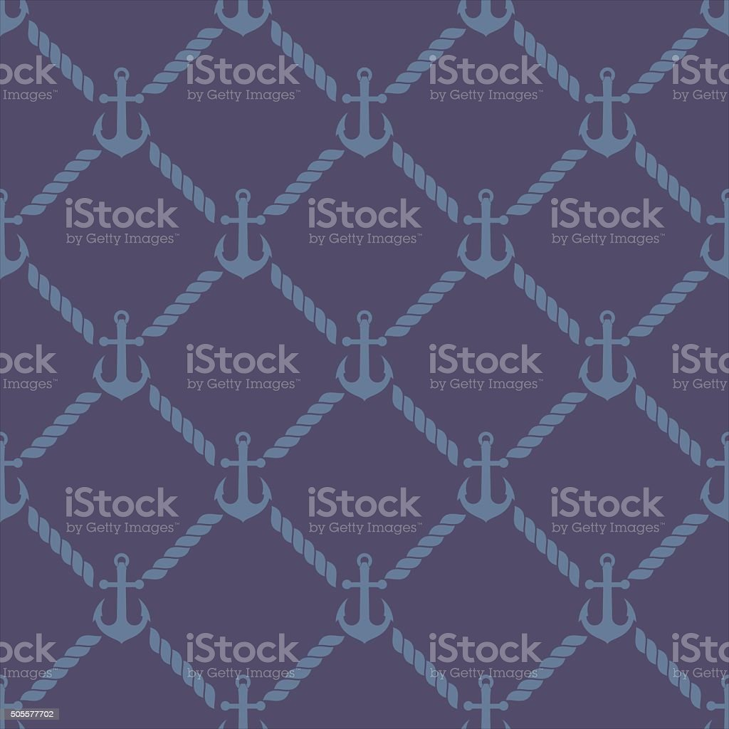 vector pattern anchor and rope vector art illustration