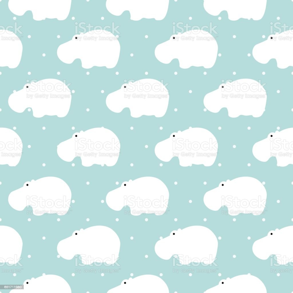 Vector pattern of flat animals seamless background. vector art illustration
