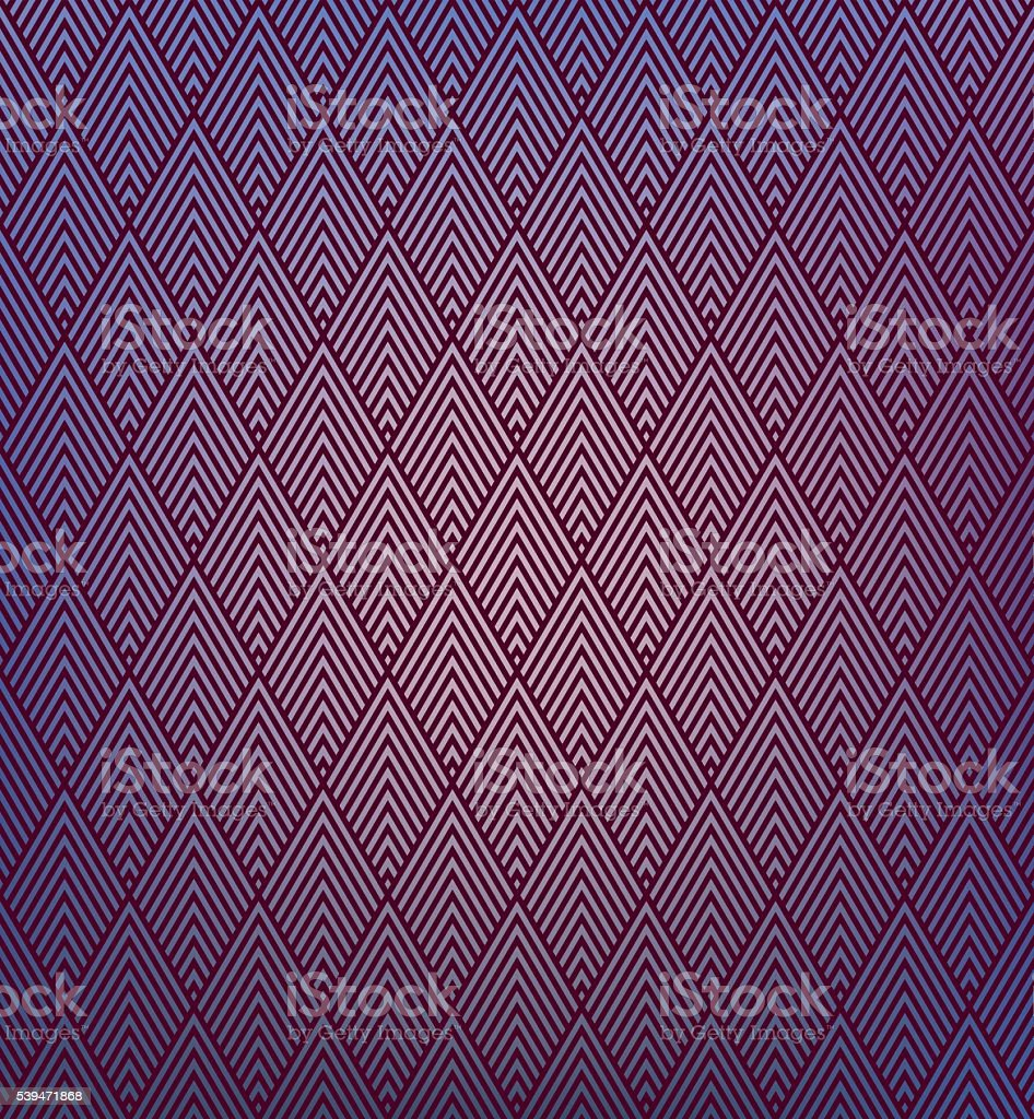 vector pattern of striped rhombuses on color gradient background. vector art illustration