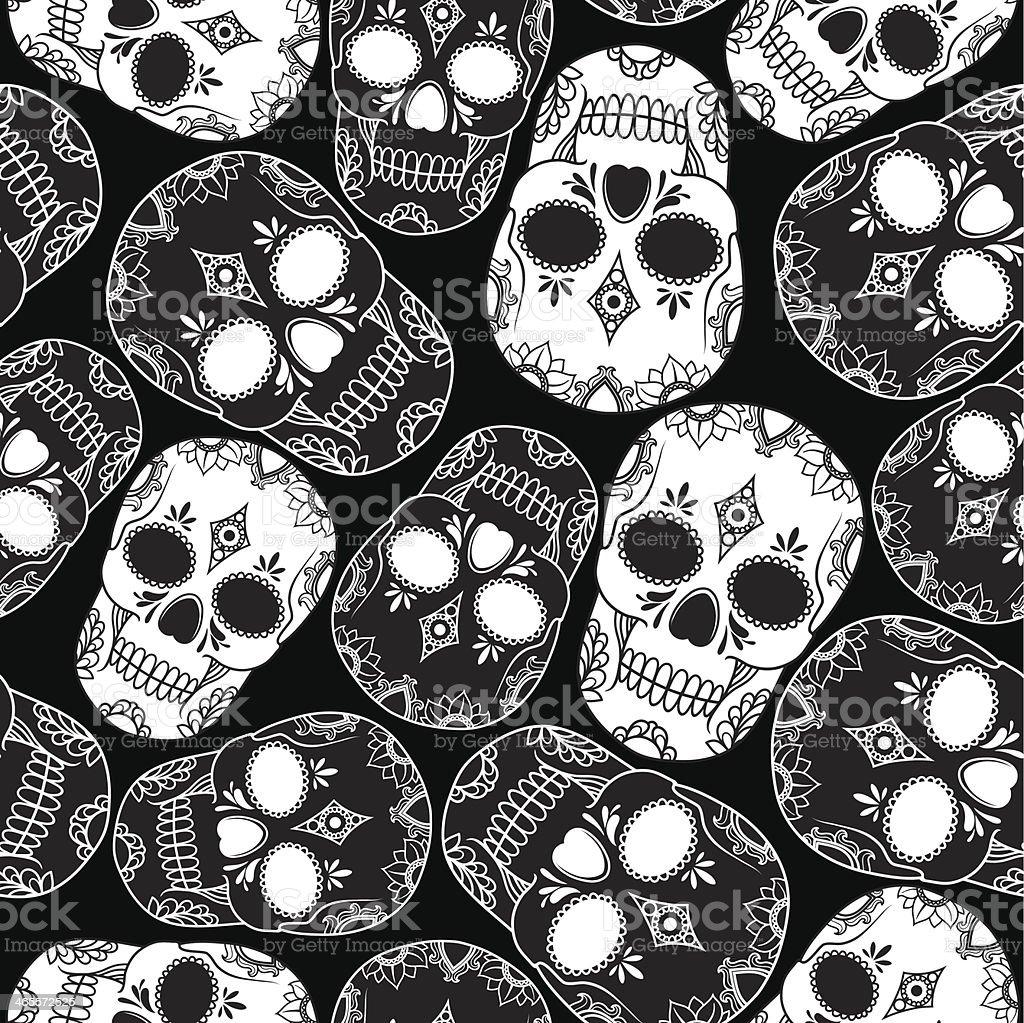 vector pattern with skulls royalty-free stock vector art
