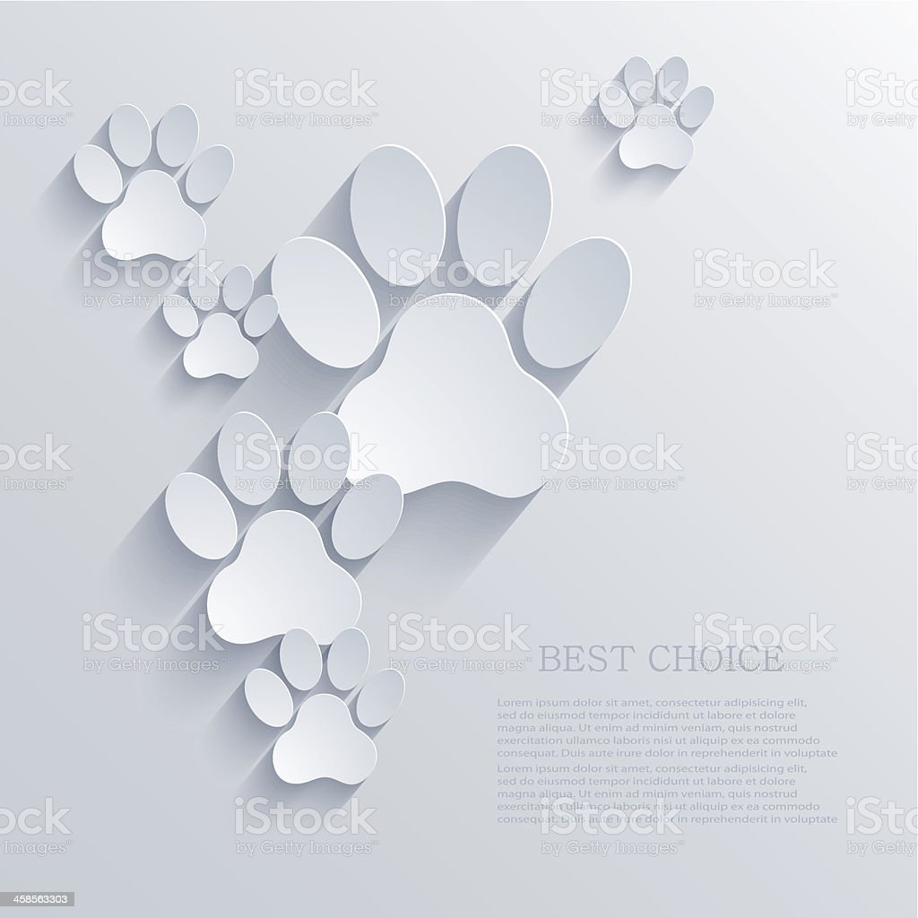 vector paw background. Eps10 vector art illustration