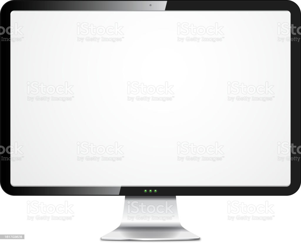 Vector pc monitor royalty-free stock vector art