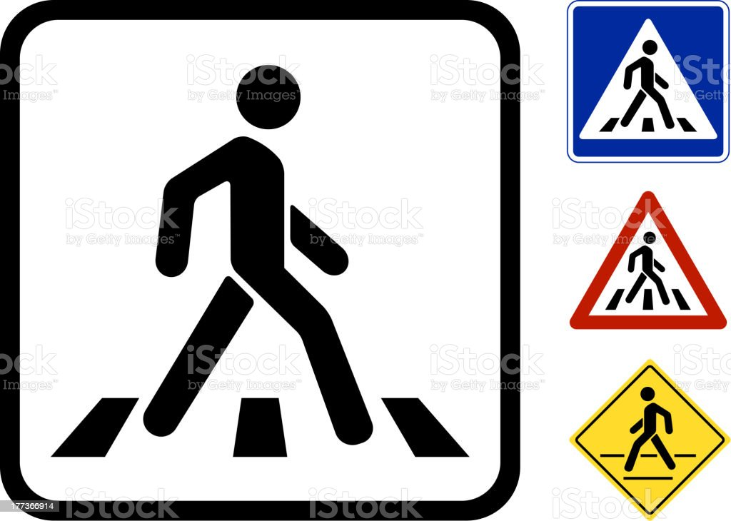 Vector Pedestrian Symbol vector art illustration