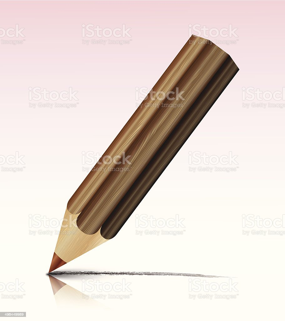 Vecteur de crayon stock vecteur libres de droits libre de droits