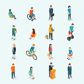 Vector people. Set of woman and man.