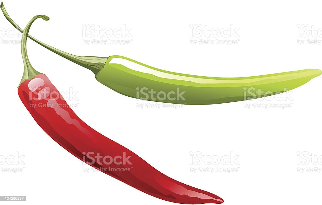 vector pepper vector art illustration