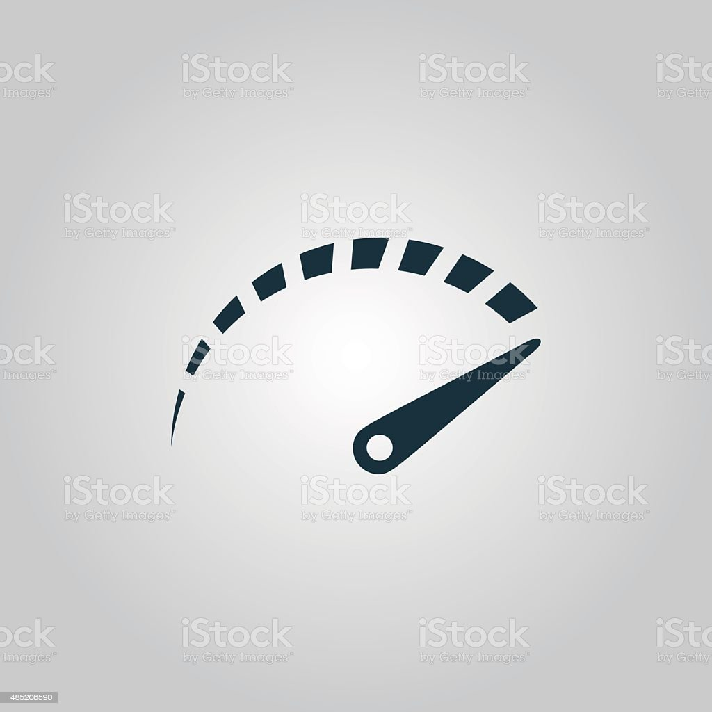 Vector performance measurement icon vector art illustration