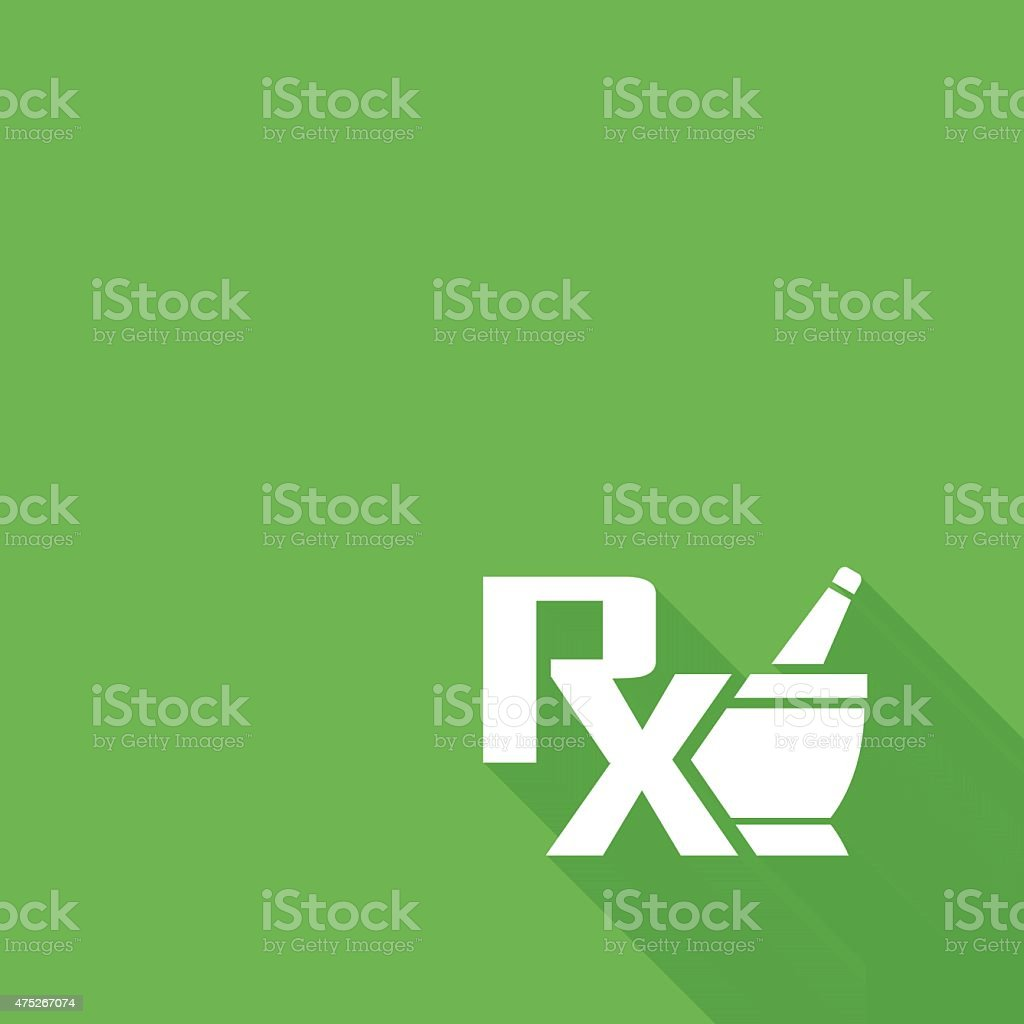 Vector pharmacy symbol - mortar and pestle vector art illustration