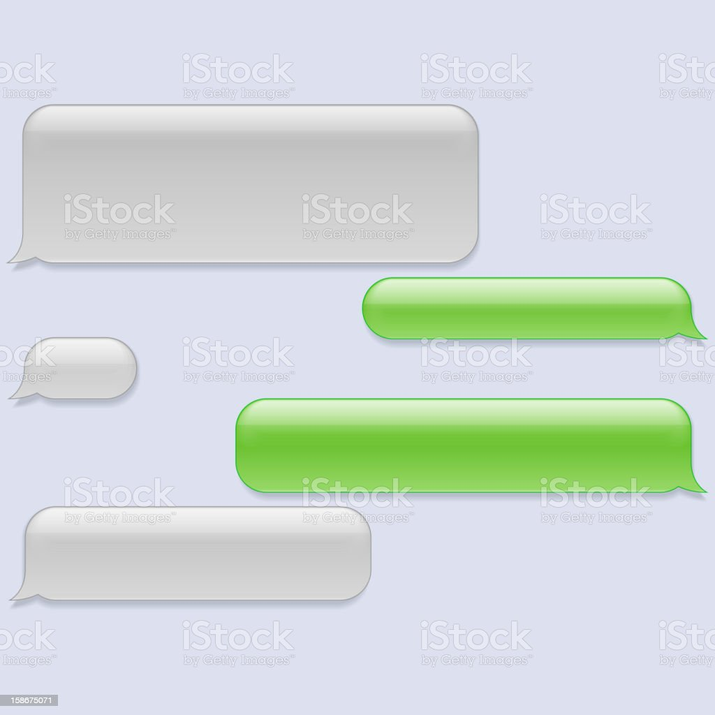 Vector phone chat bubbles vector art illustration