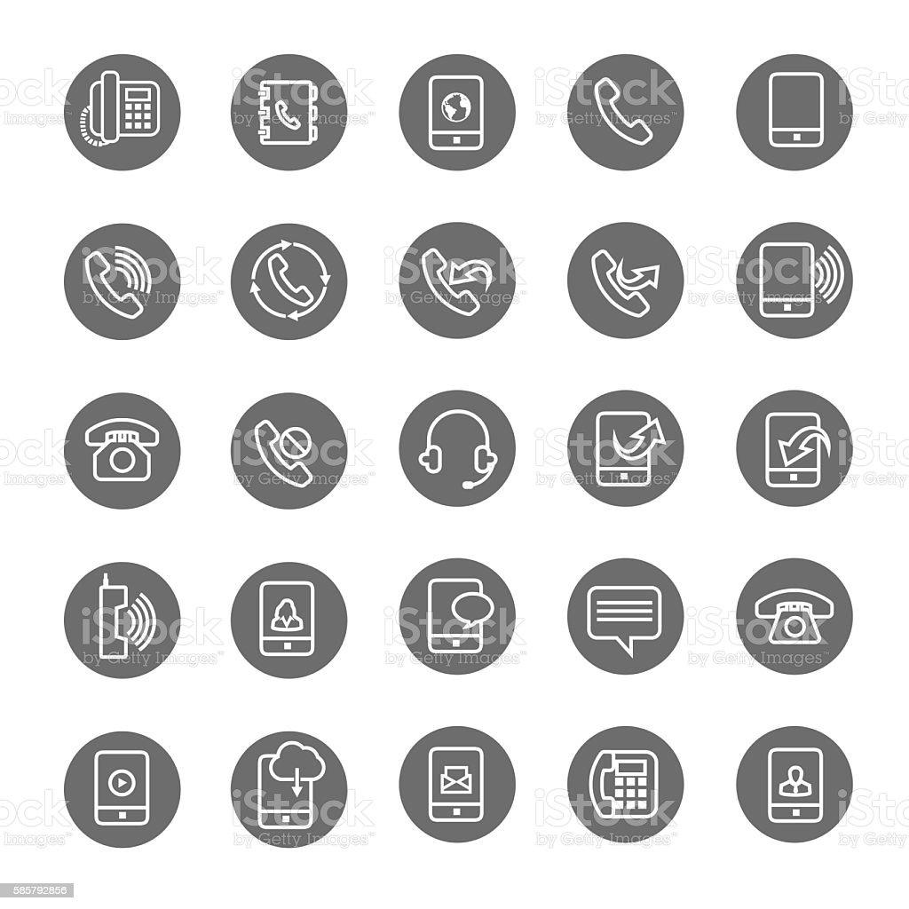 Vector phone icon set vector art illustration