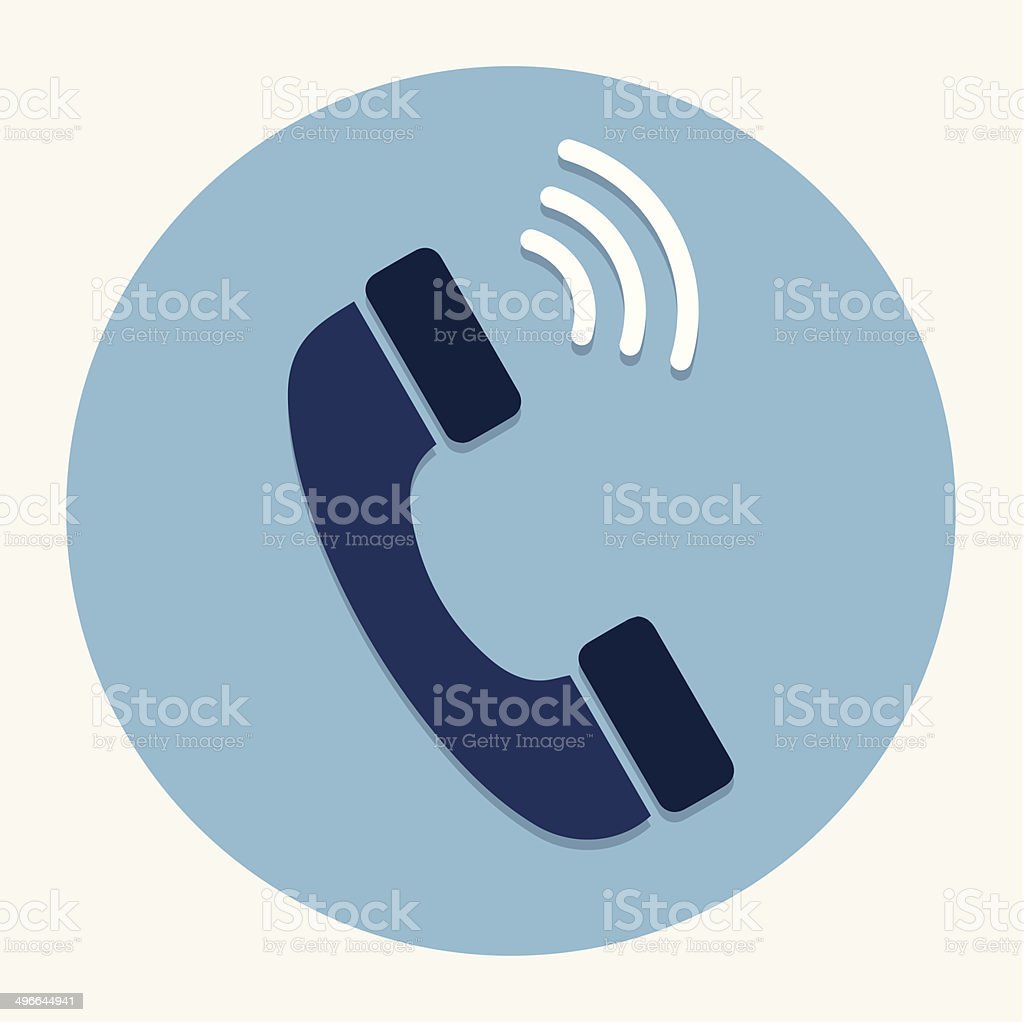 Vector phone icon vector art illustration