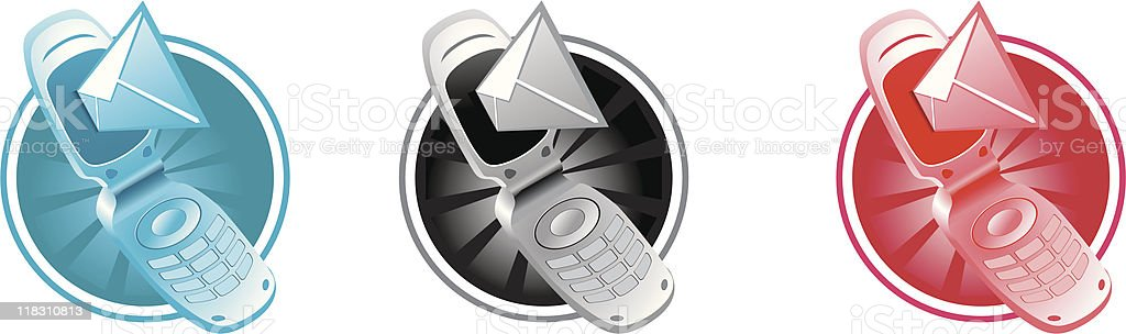 vector phone with sms royalty-free stock vector art
