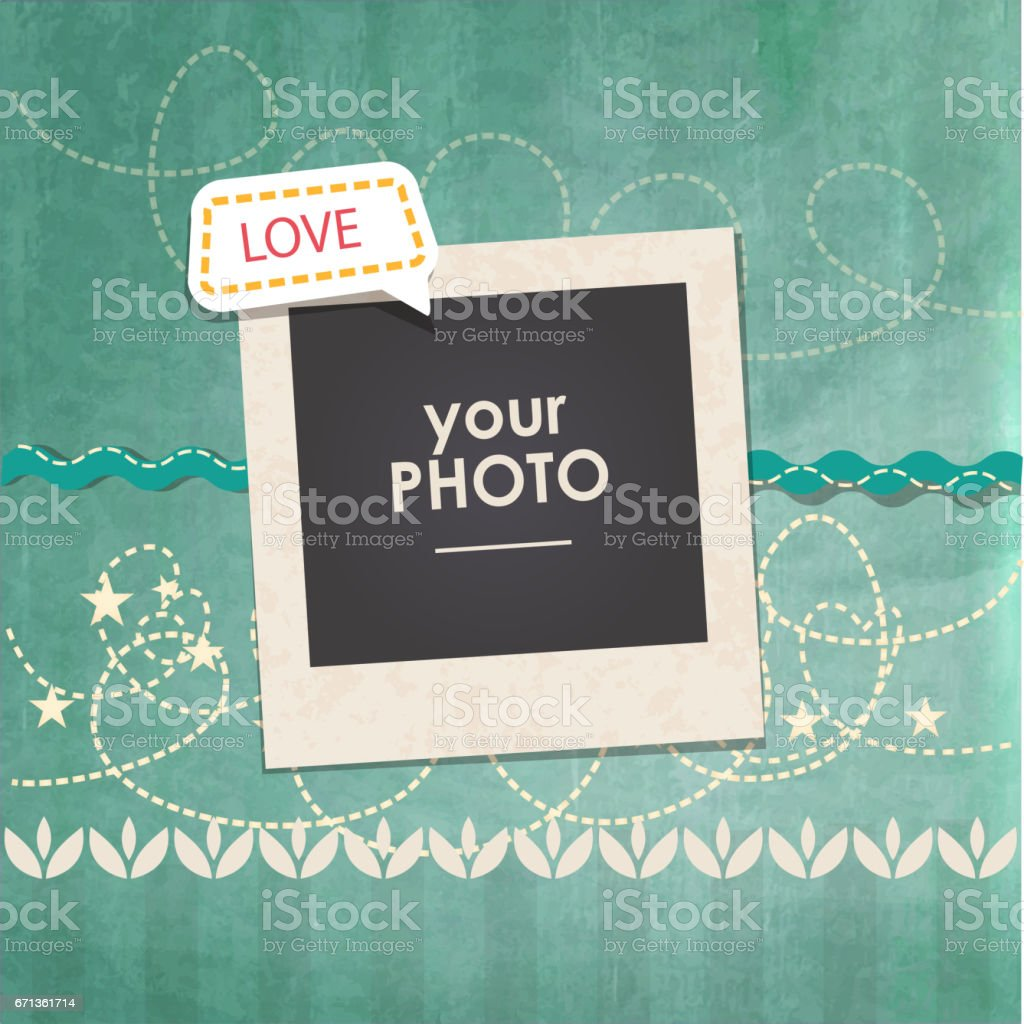 Vector photo frame vector art illustration