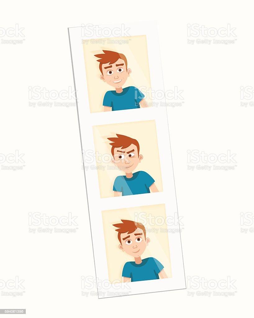 vector photo of the boy vector art illustration