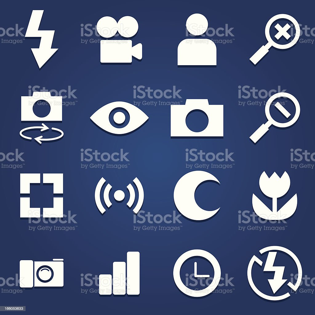 Vector photography icons vector art illustration