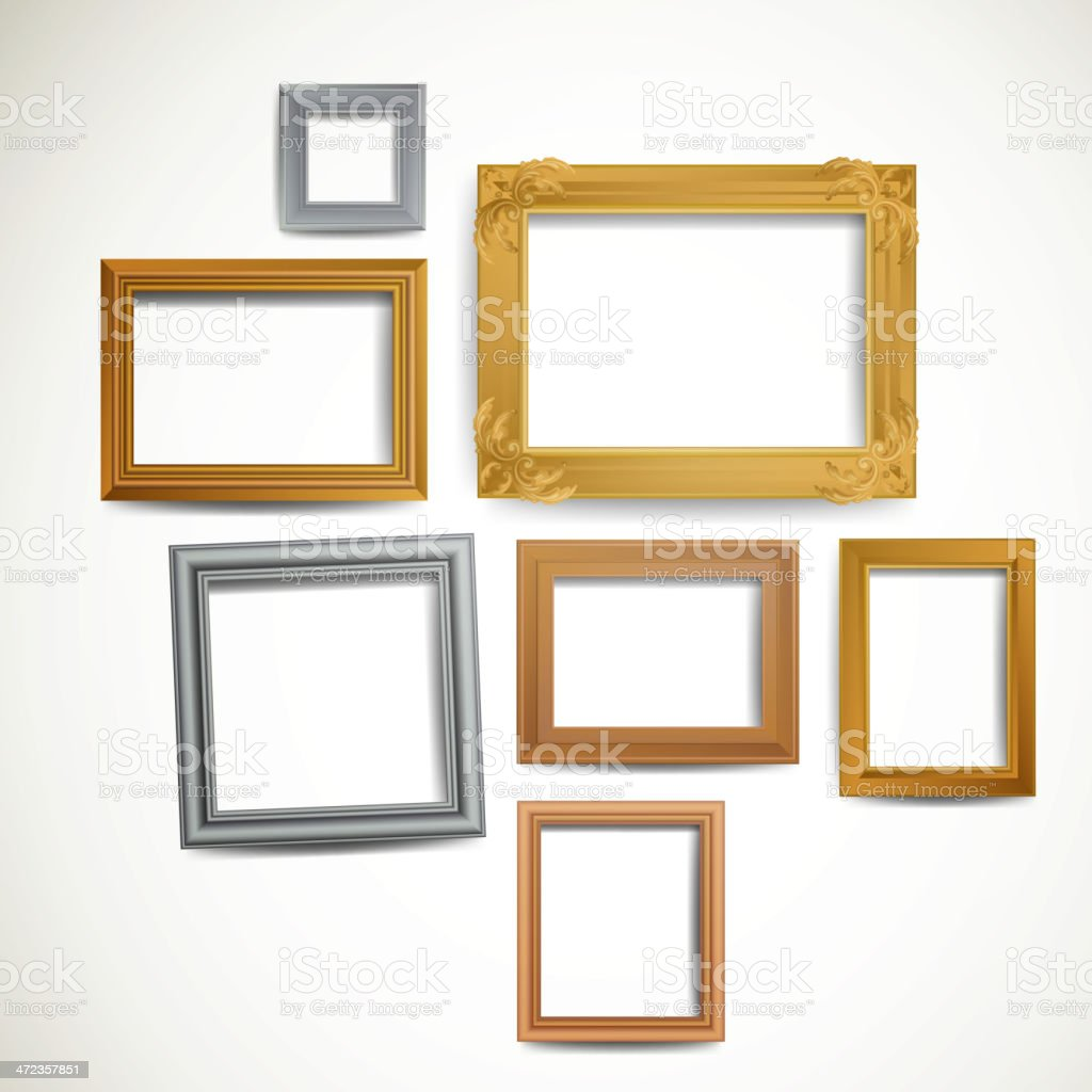 Vector Picture Frames royalty-free stock vector art