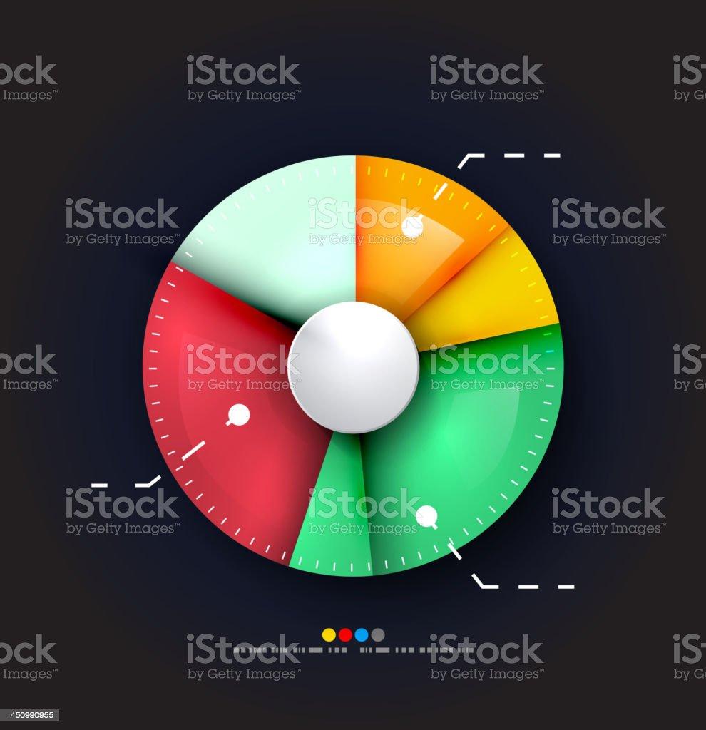 Vector pie chart infographic vector art illustration