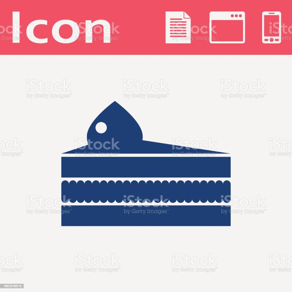 Vector piece of cake icon. Food icon. Eps10 vector art illustration