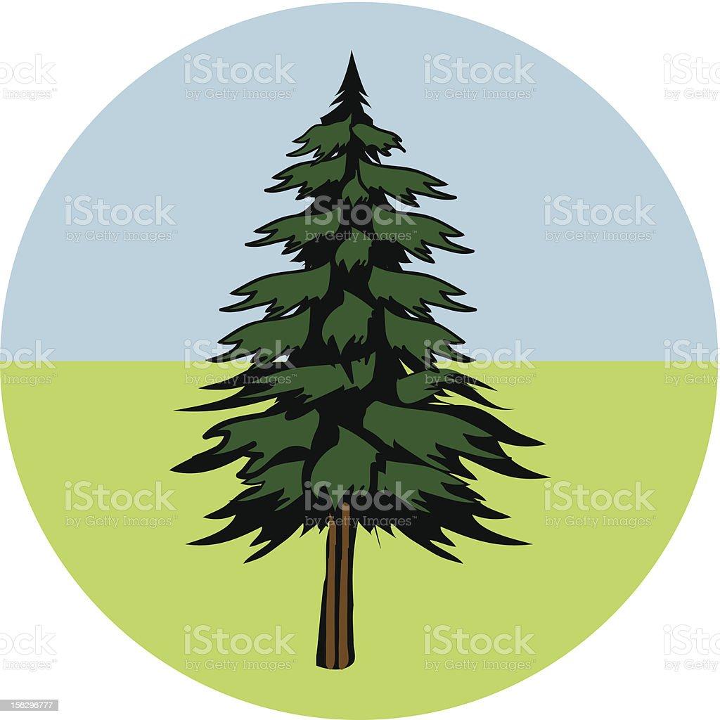 Vector Pine Tree royalty-free stock vector art