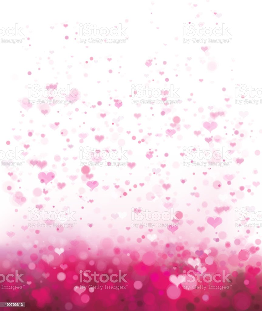 Vector pink background with hearts for Valentine's day design. vector art illustration