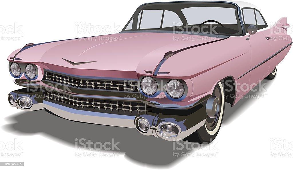 Vector Pink Cadillac royalty-free stock vector art