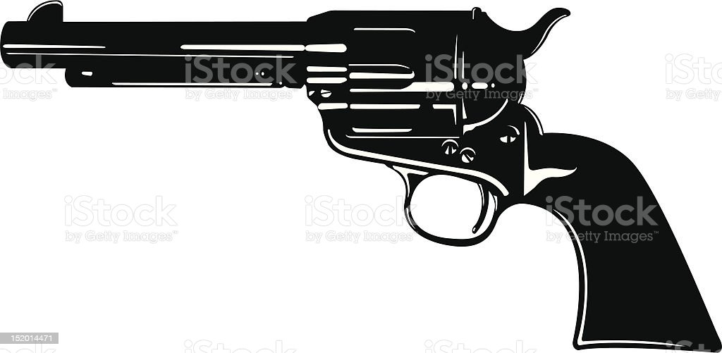 Vector Pistol royalty-free stock vector art