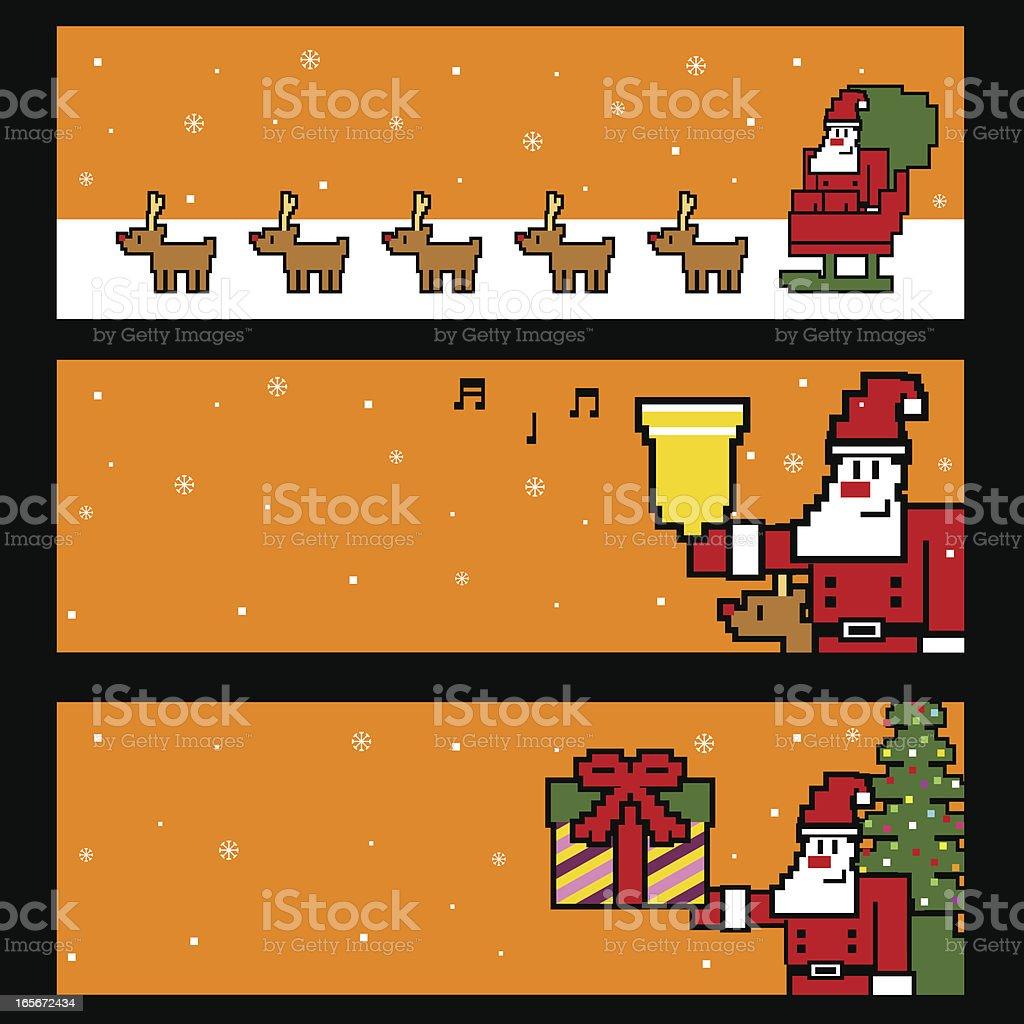 Vector Pixel Art Of Merry Christmas royalty-free stock vector art