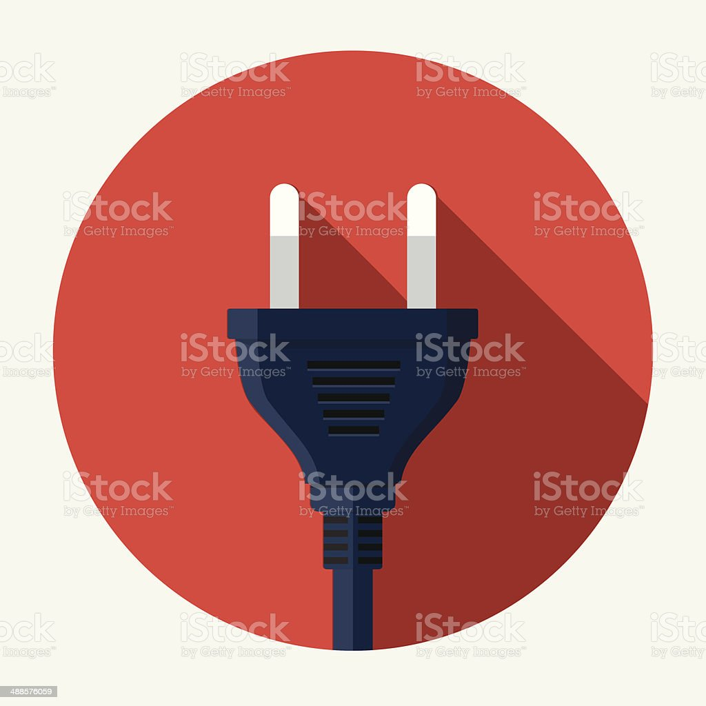 Vector plug icon vector art illustration