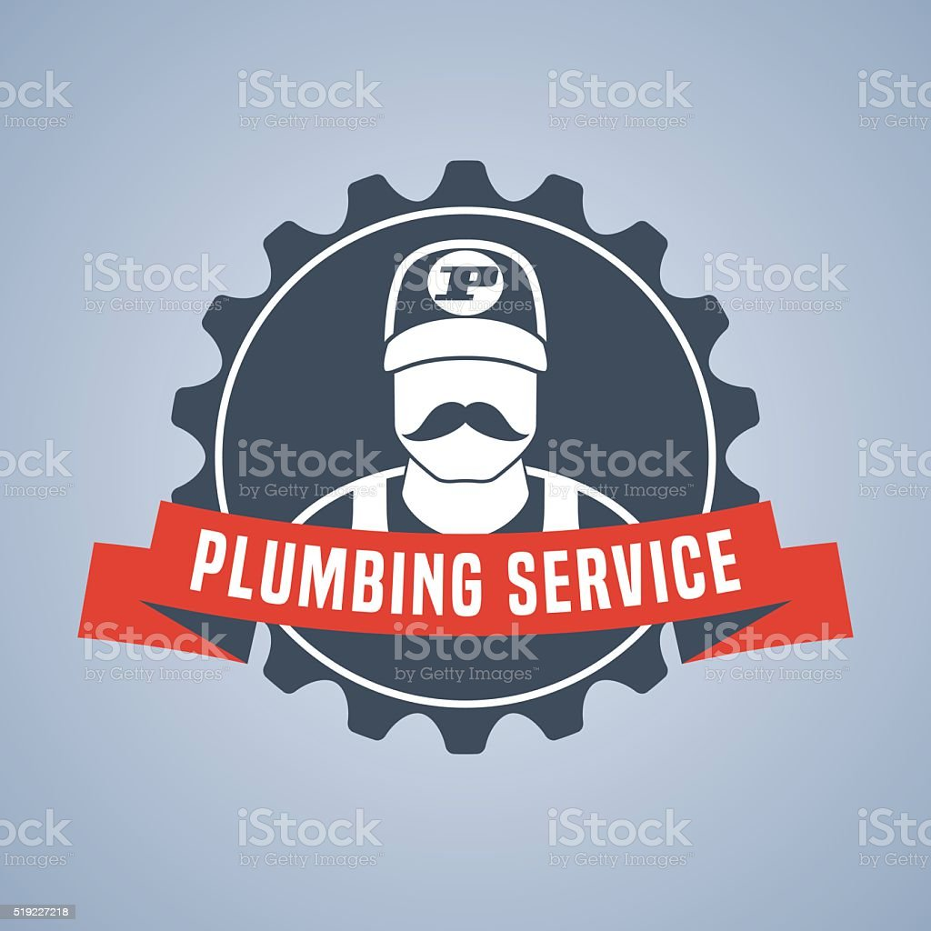 Vector plumbing service sign vector art illustration