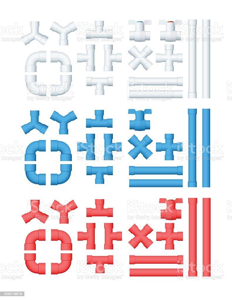 Vector Plumbing Set vector art illustration